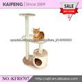 gato del árbol, condominio de gato hecho de madera prensada, cuerda de sisal, telas de la felpa