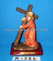 Figura religiosa resina com cruz