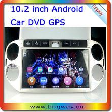 radio gps/10.2 pulgadas android carputer/coche reproductor de dvd/estéreo del coche