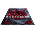 elegante suave piel de vaca patchwork alfombras