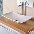 Superfície sólida de acrílico tabela lavabo topo, lavagem de pedra bacia