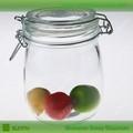Venta caliente- hermético frasco de vidrio transparente con tapa de corcho