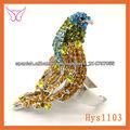chino bisuteria fina diseño de moda anillo de aves diamante de imitación Anillo en forma de pájaro