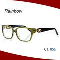 2014 de alta calidad de acetato marco óptico/gafas