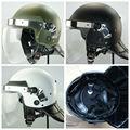 La protección completa de estilo europeo anti- riot con casco máscara/anti casco de antidisturbios con anti niebla visera