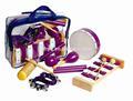 Atacado instrumento de percussão incluindo maracas, pandeiro, xilofone, claves, guiro, sino de mão