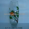 Main exquis peint vase en verre pour la maison déco