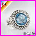 Ebay de China Anillo Cristal Azul Cheapest