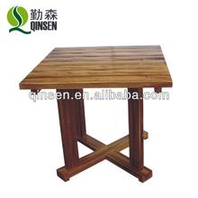carbonizado de madera al aire libre muebles de jardín de madera antigua mesa de comedor mesa lateral