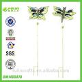 La mariposa y la libélula de metal jardín estaca, juego de metal jardín