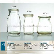 de alta calidad de vidrio vacías botellas de leche