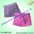 caliente la venta de algodón 100 niños moda corta falda para las niñas partido