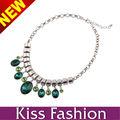 último nuevo diamante de la llegada verde gota de moda con encanto collares de abalorios