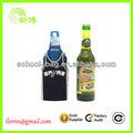 Comercio al por mayor koozie botella de cerveza con cremallera