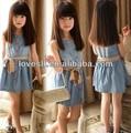 2014 ropa Loveslf Niños / una falda de mezclilla sin mangas / fabricante de ropa infantil china