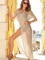 De lujo elegante- multi- desgaste 2015 las mujeres sexy vestidos de playa