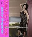 adultos sexy de encaje negro vestido de deslizamiento