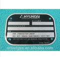 De aluminio de tarjetas de visita, en blanco de metal logotipo