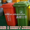 de reciclaje de plástico de tierra de gran cubo de la basura con la rueda