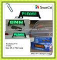 Marco de la prueba de fuego de color verde ABS LED de signos para los coches