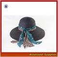 sombrero de paja con ala ancha para mujeres/sombrero para el sol/damas sombreros de playa/sand beach hat/CN28