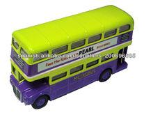 1:72 proporción autobús de dos pisos die casting modelo