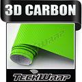 Teckwrap pomme. vert 3d film de vinyle en fibre de carbone de vinyle de voiture d'emballage