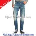 100% de algodón de mezclilla tela jeans skinny pantalones para hombre( ld02)