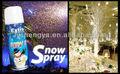 spray de nieve para la decoración de la boda