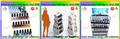 Esmalte de uñas de acrílico exhiben niveles de suelo para tienda de cosméticos