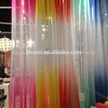 diseño nuevo y moderno de color del arco iris de la cortina