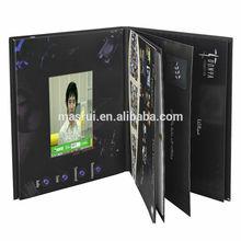 """impresión personalizada 1.8""""- 10"""" lcd de pantalla de vídeo brouchure/libro de fotos de la tarjeta de vídeo con 2 gb momery"""