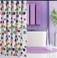 100% polyester, belle ronde dot. fantaisie. imprimés rideau de douche