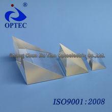 Cristal de zafiro de ángulo recto prisma, recubrimiento son bajo petición