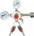Duplo tomadas CO2 redutor de pressão CO2-13J03, medidor de pressão