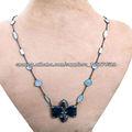 Collar De Oro Amarillo de 14k Con Piedras Preciosas Distribuidor de Collares Con Diamantes Incrustados Venta de Joyeria Vintague