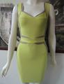 2014 vestido de tirantes espesor vendaje verde HL142