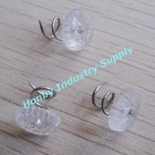 redonda de plástico transparente de tapicería twist pins para colchones de accesorios para muebles