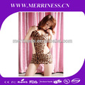 venta al por mayor de ropa interior de moda leopardo ajustado sin respaldo monos de los clubes nocturnos de ds con disfraces
