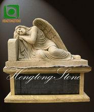 Mármol Amarillo Ángel lápida sepulcral