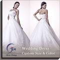 A boda satén boda vestido largo vestido