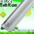 T5 lámpara fluorescente 3poles carcasa de aluminio con cubierta de la PC