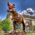 escultura dinosaurio