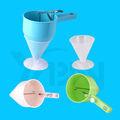 Plastic Cream Tong con la taza de medición/embudo de plástico