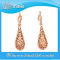 Venta caliente gancho para la oreja de oro encabeza diseños LKN18KRGPE016