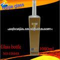 Hecho en China Alta calidad Diferentes tamaños de botellas de licor de cristal cuadrados al por mayor