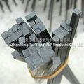de fibra de carbono sólido cuadrados barra