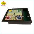 деревянные ludo настольная игра с 4 цвета пешки
