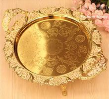 qualidade da liga de paletes em casa de moda de ouro grande prato de frutas de ktv grande de frutas prato prato de comida