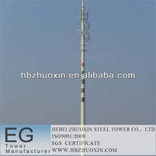 octogonal de telecomunicaciones gsm de telecomunicaciones de acero torre monopolo